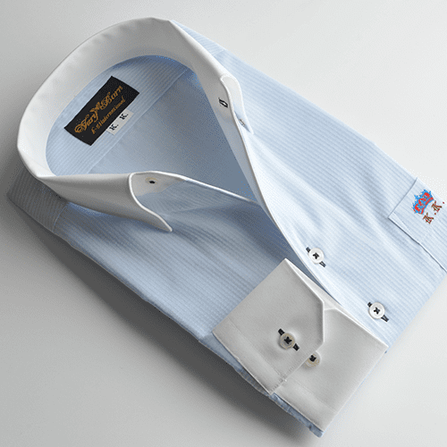 ブルーシャツ×クレリック
