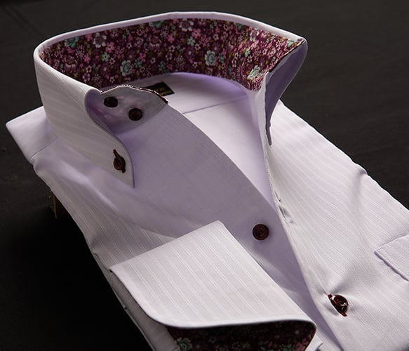 パープル×紫花柄