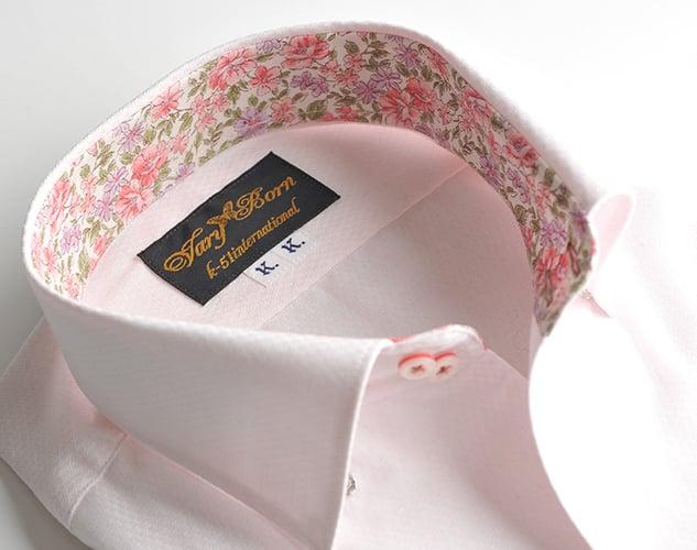 ピンク×ピンク花柄