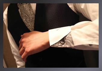 できる男のスーツの袖口