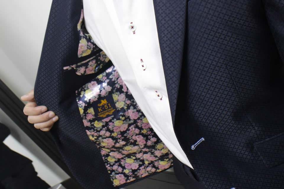 できる男のスーツの裏地