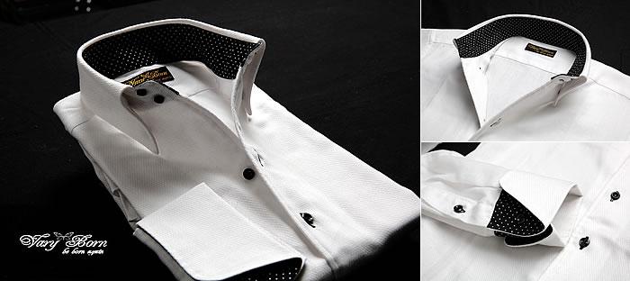 ホワイト×黒ドット